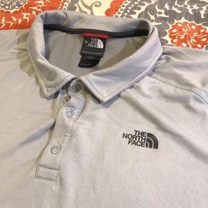 Lightweight north face polo shirt